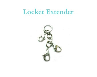 Memory Locket Extender, Silver Stainless Steel LOCKET EXTENDER CLIP for Floating Charm Lockets, Clip Multiple Lockets & Dangles Together.