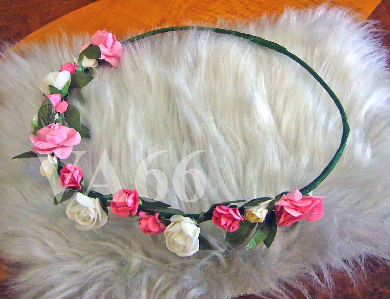 Flower girl hair wreath bridal flower crown wedding headband zoom izmirmasajfo Image collections