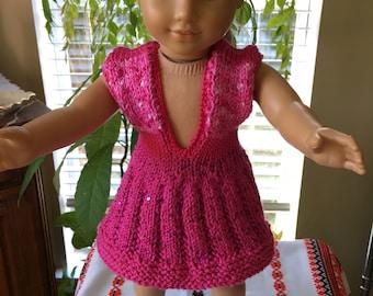 Fuchsia dress for any 18 inch dolls.