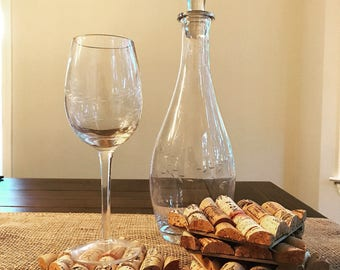 Wine Cork Coasters (4)