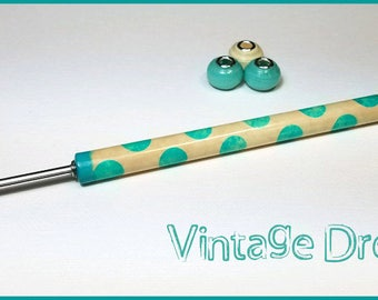 "Vintage Dress Paper Bead Roller / Tool from the Lots of Dots Collection - Your Choice 1/8"" or 3/32"" Tutorial Included"