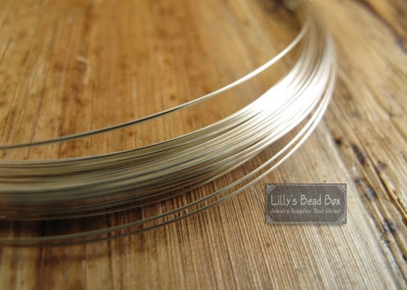 28 Gauge Wire, .925 Sterling Silver Wire, Ten (10) Feet Round, Half Hard Wire, Wrapping Supplies for Gemstones and Jewelry Making