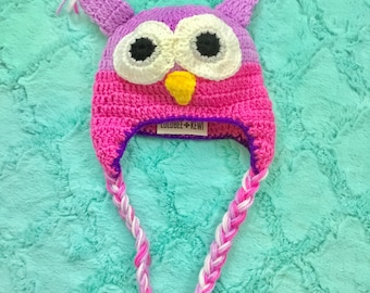 Owl Knit Hat for New Born Baby - 2yrs