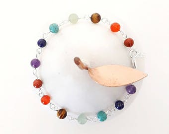 Chakra Rainbow Bead Bracelet