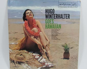 Hugo Winterhalter Goes Hawaiian, Vintage Mid Century 1961 Hawaiian Music Record, Vinyl LP Album, Tiki Bar Decor