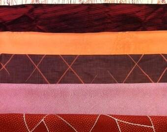 Four+ yard Kit of Japanese  silks all reds