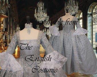Venice ball dress Marie Antoinette Versailles Rococo.Colonial Georgian 18thc . Fully Corseted..