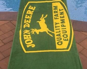 John Deere Beach Towel John Deer Personalized Beach Towel