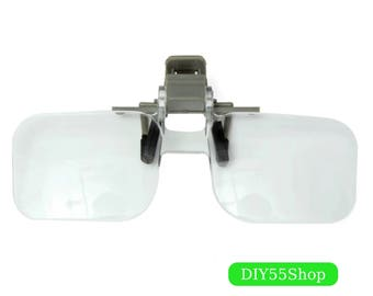 High Quality Magnifier Folding Handfree Clip On Clear Magnifying Glasses HD Lens Precise Eyeglasses Jewellery Appraisal Watch Repair Tool