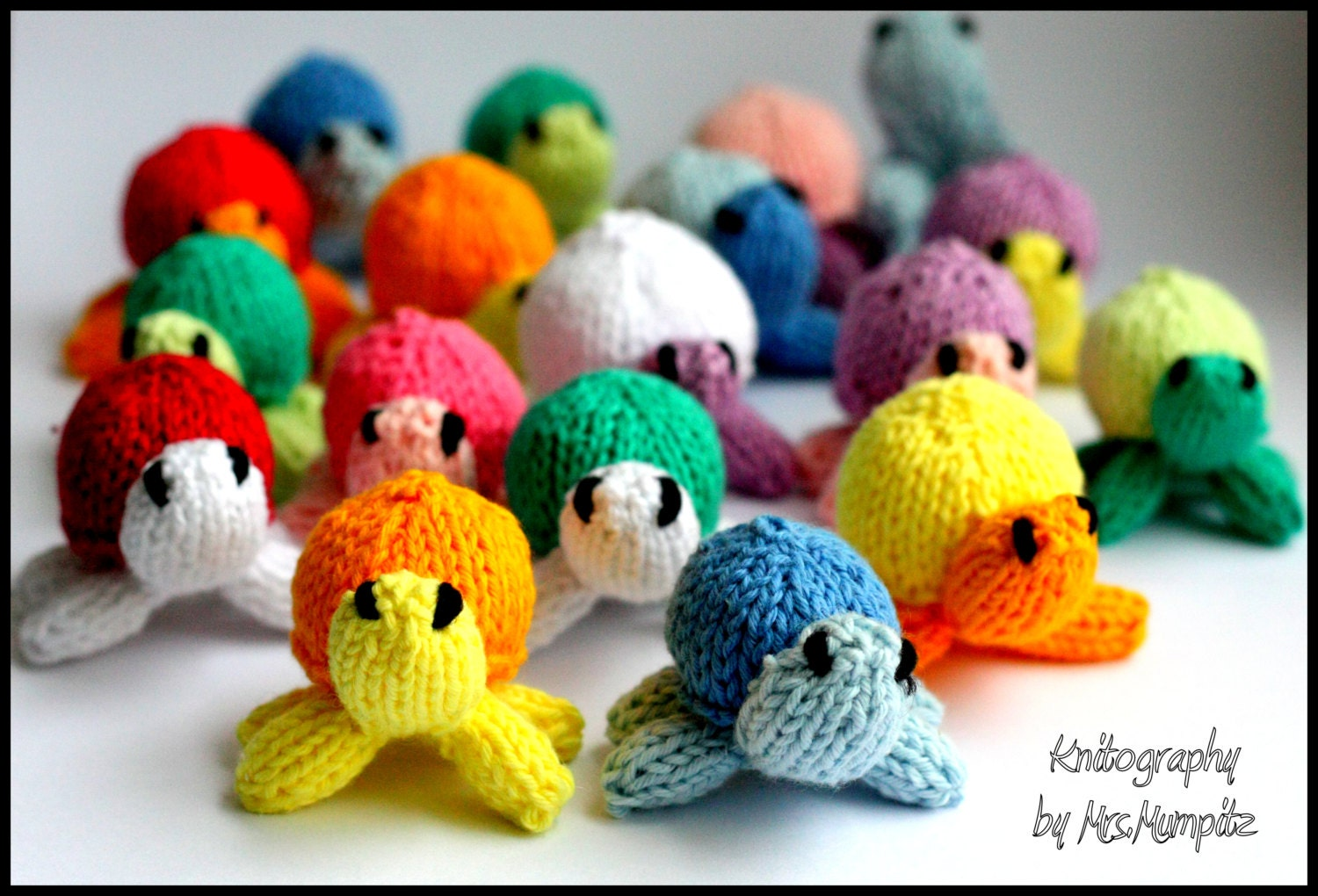 Mini turtles Knitting pattern PDF for beginners and advanced ...