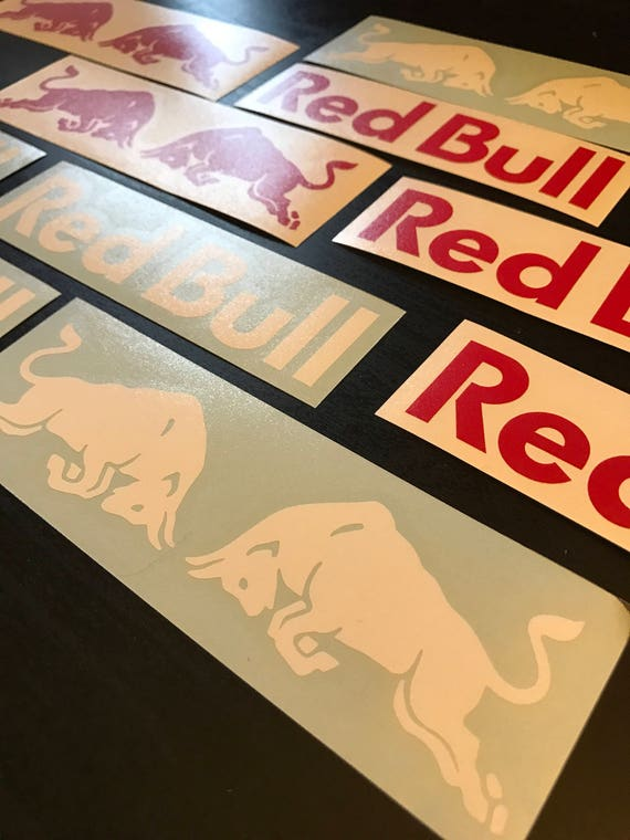 Red bull energy stickers skateboarding die cut decal sticker skateboarding snowboarding bmx 10 decals total free shipping