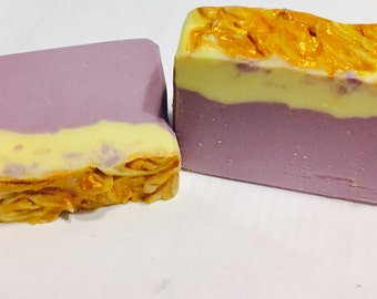 Creamy lavender goat milk Soap