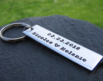 Custom Couples Keychain, Personalized Couples Keychain, Couples Gift, Special Saying, Mens Keychain Womens Keychain