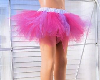 Bubblegum Pink and Lavender Trashy TuTu Skirt Child Size 4-8 MTCoffinz - Ready to Ship