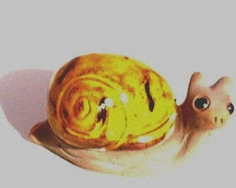 Snail Figurine Clay Hand Modelled