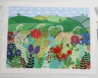 Fields of Joy -  Unframed Fine Art Print