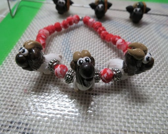 Handmade Animal Bracelet Boer Goats You pick Animal Polymer Clay Made to Order by Shannon Ivins
