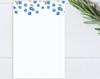 Blueberry Notepad