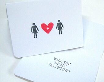 Valentine, Gay, Same Sex Valentine, Lesbian Valentine Card, Gay Love, Alternative Valentine, Valentines Day Card, Valentines Day, Gay Card
