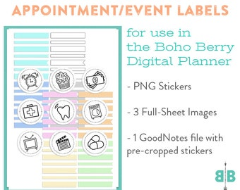 DIGITAL Appointment & Event Label Stickers