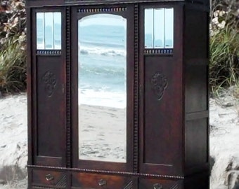 1876 French Armoire w/ Key