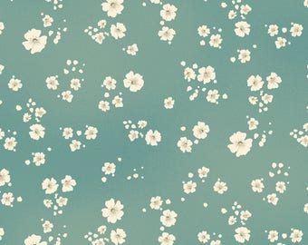 Baby's Breath - Teal by Maywood Studio (8368-Q) Cotton Fabric Yardage
