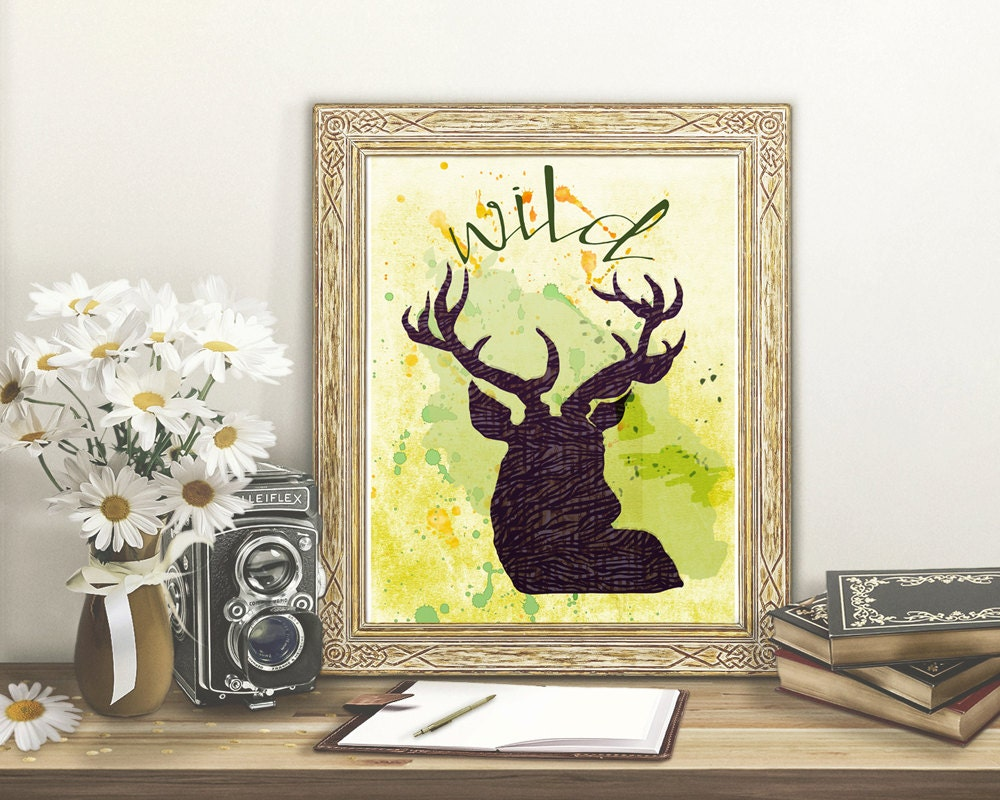 Beautiful Stag Wall Art Contemporary - The Wall Art Decorations ...