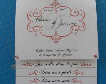 (mass, blessing...) staircase marriage ceremony booklet