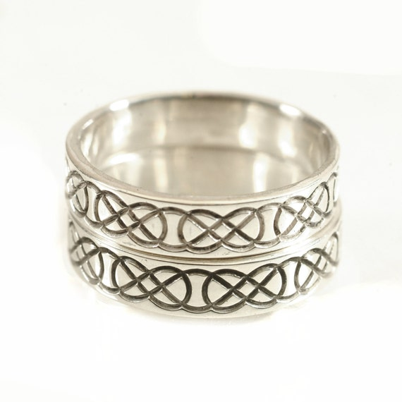Wedding Ring Set, His and Hers Wedding Rings, Celtic Wedding Bands, Celtic Knot Ring Set, 10K 14K 18K Gold, Palladium or Platinum CR-753