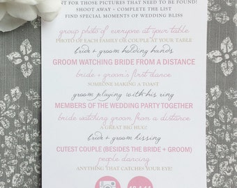 Wedding Games - I SPY 5x8 inches - Style 23 - Gold Wedding Collection
