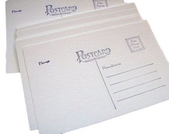 Postcard blanks, Postcards, set of 25, 4x6, Postcard, Soft White