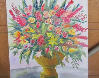 Oil Painting Pretty Flowers