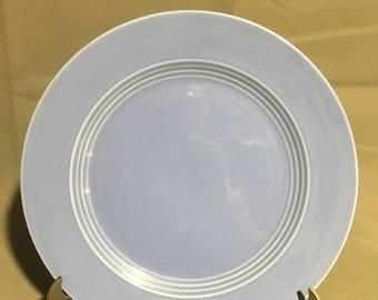"Vintage Harlequin Blue Ceramic Dinner Plate 10"" diameter"