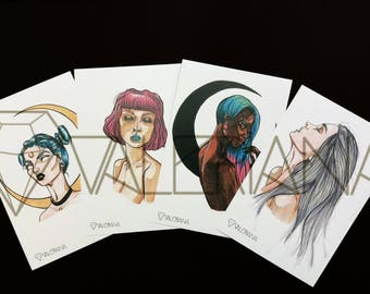 Moon daughters Postcard Set