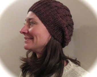 Cabled Cap in Rich Browns