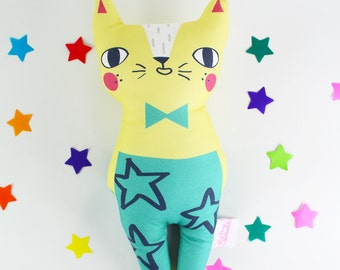 Cat Soft Toy - Confetti Cats Yellow Cat
