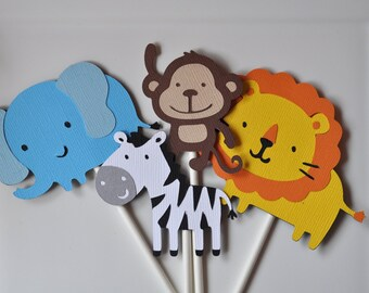 Jungle or Safari themed cupcake toppers set of 12