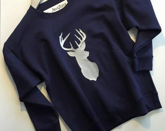 Sweat Shirts - Deer Head design- Hunter Design- Stag design
