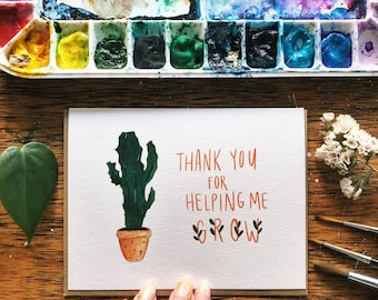 Thank You for Helping Me Grow Greeting Card