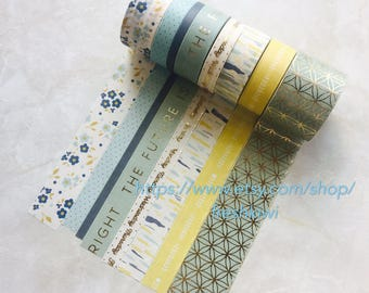 NEW*** Recollections Washi Tape. Green. Floral. the future is bright. calendar. arrow