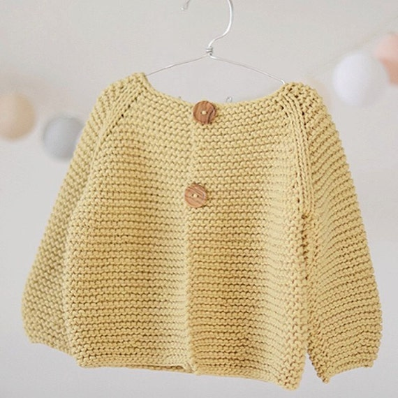 KNITTING PATTERN Basic Cardigan for Children's and Babies