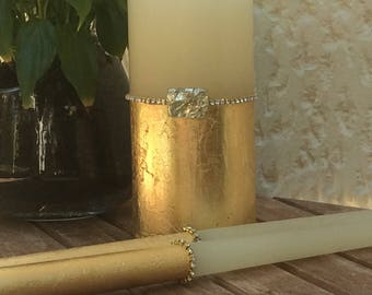 Personalized Rustic Wedding Candles Rustic Unity Candle Set Wedding Unity Candle Wedding Unity Twine Wedding Candles