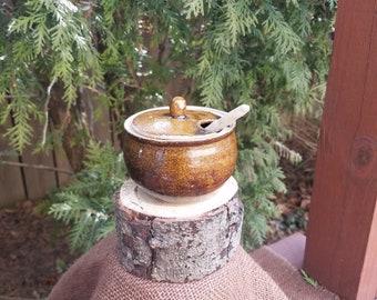 Handmade Stoneware Honey Jar