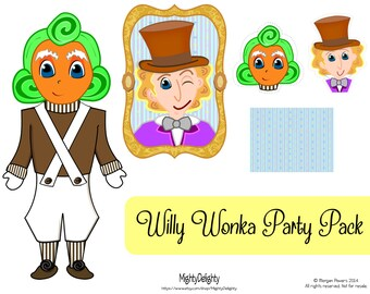 Willy Wonka Party Pack! Cupcake Toppers and large Inspired decor