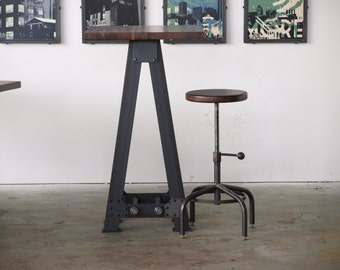 Pub kitchen A Frame table standing height industrial chic restaurant
