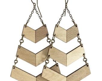 DISHY | chevron earrings