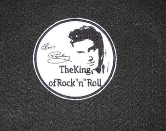 Elvis Presley Iron on No Sew Embroidered Patch Applique
