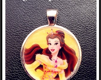Disney Princess Belle necklace pendant Inspired Pendant/Charm Beauty and the Beast necklace for Chunky Bubblegum necklaces