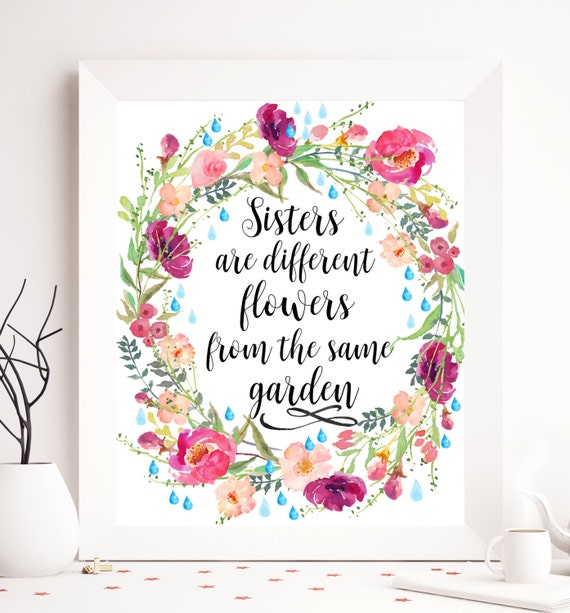 Birthday Quotes From The Quote Garden: Calligraphy Quote Sister Printable Art Printable Sister