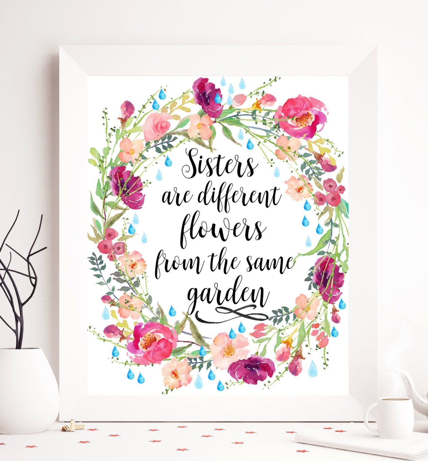 Quotes Calligraphy Calligraphy Quote Sister Printable Art Printable Sister